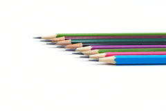 μολύβια γραμμών χρώματος Στοκ Φωτογραφίες