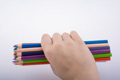 Μολύβια εκμετάλλευσης χεριών Στοκ Εικόνα