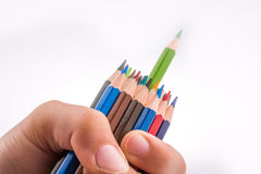 Μολύβια εκμετάλλευσης χεριών Στοκ φωτογραφία με δικαίωμα ελεύθερης χρήσης