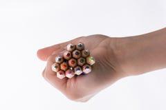 Μολύβια εκμετάλλευσης χεριών Στοκ εικόνα με δικαίωμα ελεύθερης χρήσης