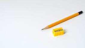 Μολύβια και Sharpener Στοκ φωτογραφία με δικαίωμα ελεύθερης χρήσης