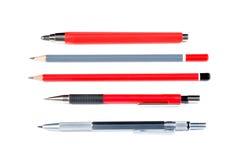 Μολύβια μολύβδου που απομονώνονται στο λευκό Στοκ Εικόνες