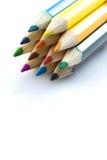 Μολύβια που απομονώνονται ζωηρόχρωμα Στοκ φωτογραφία με δικαίωμα ελεύθερης χρήσης
