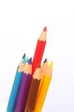 Μολύβια που απομονώνονται, υπόβαθρο χρώματος, έννοια εκπαίδευσης, σχολείο 1 Στοκ φωτογραφία με δικαίωμα ελεύθερης χρήσης
