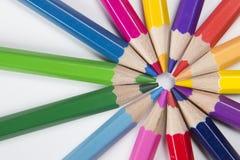 Μολύβια σε μια μορφή κύκλων Στοκ Φωτογραφία