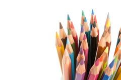 Μολύβια χρωμάτων καθορισμένα Στοκ Εικόνα
