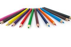 Μολύβια, χρωματισμένα μολύβια Στοκ εικόνα με δικαίωμα ελεύθερης χρήσης