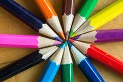 μολύβια χρώματος διάφορα Στοκ εικόνα με δικαίωμα ελεύθερης χρήσης