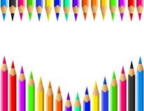 Μολύβια χρώματος καθορισμένα διανυσματικά Στοκ φωτογραφία με δικαίωμα ελεύθερης χρήσης