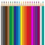 Μολύβια χρώματος καθορισμένα Ελεύθερη απεικόνιση δικαιώματος