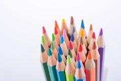 Μολύβια χρώματος του διάφορου χρώματος Στοκ Φωτογραφία