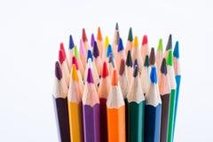 Μολύβια χρώματος του διάφορου χρώματος Στοκ φωτογραφίες με δικαίωμα ελεύθερης χρήσης