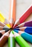 Μολύβια χρώματος Στοκ Φωτογραφίες