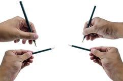 Μολύβι λαβής χεριών Στοκ Εικόνες