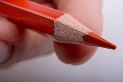 Μολύβι εκμετάλλευσης χεριών Στοκ Φωτογραφία