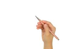 Μολύβι εκμετάλλευσης χεριών Στοκ εικόνες με δικαίωμα ελεύθερης χρήσης