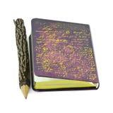 Μολύβι και βιβλίο. Στοκ Εικόνες