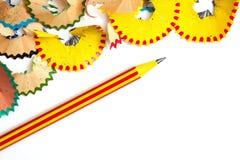 Μολύβι και ξέσματα με το διάστημα αντιγράφων Στοκ εικόνα με δικαίωμα ελεύθερης χρήσης