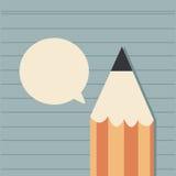 Μολύβι και ομιλία φυσαλίδων ελεύθερη απεικόνιση δικαιώματος