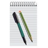 Μολύβι μανδρών σημειωματάριων Στοκ εικόνα με δικαίωμα ελεύθερης χρήσης