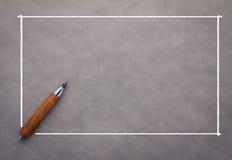 Μολύβι με το άσπρο πλαίσιο Στοκ φωτογραφία με δικαίωμα ελεύθερης χρήσης