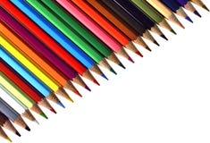 Μολύβι, παλέτα, χρώμα Στοκ εικόνες με δικαίωμα ελεύθερης χρήσης