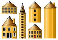 Μολύβι Buidings Στοκ εικόνα με δικαίωμα ελεύθερης χρήσης