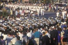 Μπάντα στην παρέλαση, Ηνωμένη Ναυτική Ακαδημία, Annapolis, Μέρυλαντ Στοκ εικόνα με δικαίωμα ελεύθερης χρήσης