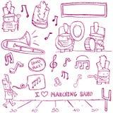 Μπάντα Doodles Στοκ φωτογραφία με δικαίωμα ελεύθερης χρήσης