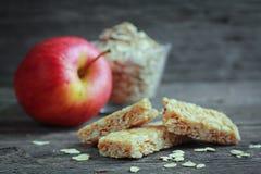 Μπάρα granola της Apple Στοκ Εικόνα