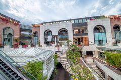 ΜΠΈΒΕΡΛΙ ΧΙΛΣ, ασβέστιο - λεωφόρος συλλογής ροντέο Το Μπέβερλι Χιλς είναι ένα FA Στοκ φωτογραφία με δικαίωμα ελεύθερης χρήσης