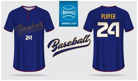 Μπέιζ-μπώλ Τζέρσεϋ, αθλητισμός ομοιόμορφος, σχέδιο αθλητικών προτύπων μπλουζών ρεγκλάν Χλεύη μπλουζών μπέιζ-μπώλ επάνω Μπροστινό, διανυσματική απεικόνιση