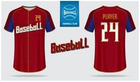 Μπέιζ-μπώλ Τζέρσεϋ, αθλητισμός ομοιόμορφος, σχέδιο αθλητικών προτύπων μπλουζών ρεγκλάν Χλεύη μπλουζών μπέιζ-μπώλ επάνω Μπροστινό, ελεύθερη απεικόνιση δικαιώματος