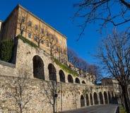 Μπέργκαμο Ιταλία Η παλαιά πόλη Μια από την όμορφη πόλη στην Ιταλία Τα παλαιά και ιστορικά κτήρια στην ανώτερη πόλη Στοκ Εικόνες