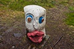 Μπέργκεν, Νορβηγία - 8 Μαρτίου 2012: ξύλινη φρουρά πλασμάτων γλυπτών μυθική του δασικού μύθου Στοκ Φωτογραφίες