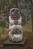 Μπέργκεν, Νορβηγία - 8 Μαρτίου 2012: ξύλινη φρουρά πλασμάτων γλυπτών μυθική του δασικού μύθου Στοκ εικόνες με δικαίωμα ελεύθερης χρήσης