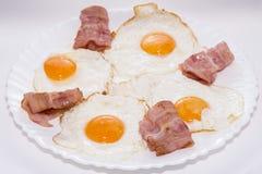Μπέϊκον και αυγά Στοκ Εικόνα