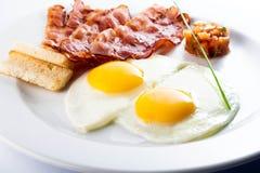 Μπέϊκον και αυγά Στοκ Εικόνες