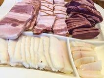 Μπέϊκον και γλώσσα χοιρινού κρέατος στοκ φωτογραφία με δικαίωμα ελεύθερης χρήσης