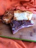 Μπέϊκον με το ψωμί Στοκ φωτογραφία με δικαίωμα ελεύθερης χρήσης