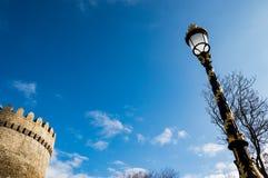 Μπακού, Αζερμπαϊτζάν Άποψη σχετικά με ένα από τα κεντρικά πάρκα Στοκ εικόνα με δικαίωμα ελεύθερης χρήσης