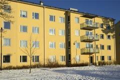 Μπαλκόνια στο κατοικημένο κτήριο διαμερισμάτων Στοκ εικόνα με δικαίωμα ελεύθερης χρήσης