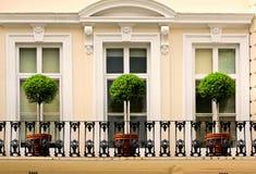 μπαλκόνι αγγλικά Στοκ εικόνα με δικαίωμα ελεύθερης χρήσης