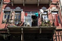 Μπαλκόνι ενός παραδοσιακού σπιτιού στη Βηρυττό, Λίβανος Στοκ Εικόνες