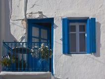 Μπαλκόνι και παράθυρο Στοκ Εικόνες
