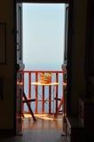 μπαλκόνι στην όψη Στοκ Εικόνες