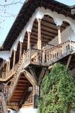 Μπαλκόνι στο παλαιό πανδοχείο ManucÈ› s πανδοχείων από το Βουκουρέστι Στοκ Φωτογραφία