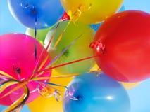 μπαλόνια αέρα ζωηρόχρωμα Στοκ Φωτογραφίες