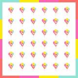 Μπαλόνια αλφάβητου καθορισμένα διανυσματικά Στοκ φωτογραφίες με δικαίωμα ελεύθερης χρήσης