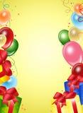 μπαλόνια ανασκόπησης εορ&t Στοκ Φωτογραφίες